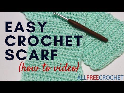 Basic Beginner Crochet Scarf