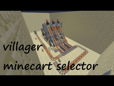 villager minecart selector system