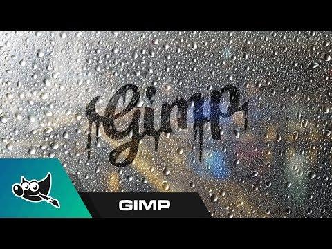 GIMP for Beginners: Foggy Window Text Tutorial