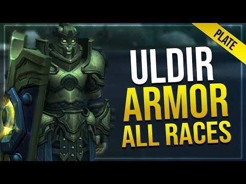 Uldir Raid Armor - Plate   In-game Preview With All Male & Female Races   Battle for Azeroth!
