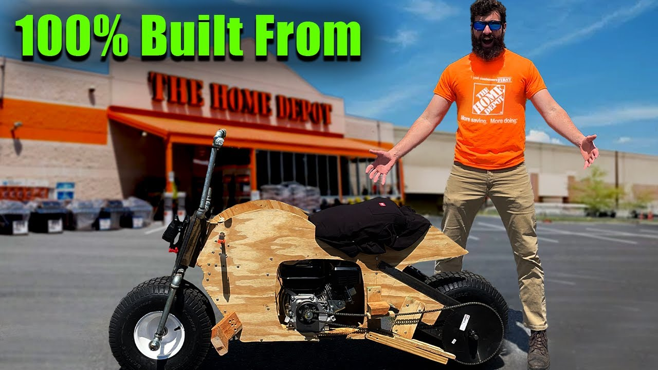 I Built a Motorcycle from Home Depot Parts