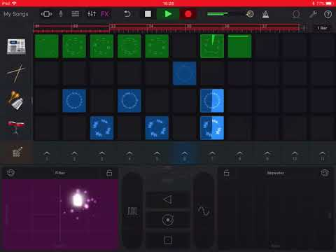How to create a short song in GarageBand for iPad, name it and share it to iMovie