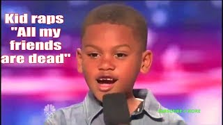 """7 Year old raps """"All my friends are dead"""" on America"""