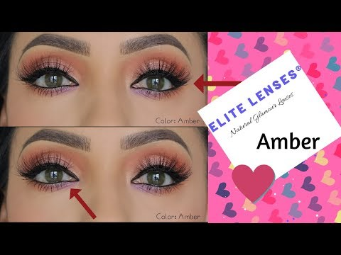 New! Elite Lenses Natural looking Color Contacts Amber (Yellow)
