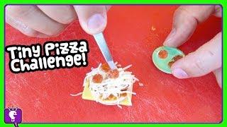 Tiny Pizza VS Real Giant Dominos Pizza! Hulk Gets Green Food from HobbyFry by HobbyKidsTV