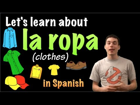 Learn Spanish - Common words for clothing