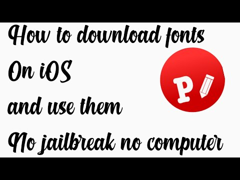 HOW TO DOWNLOAD FONTS ON IOS FOR FREE NO JAILBREAK