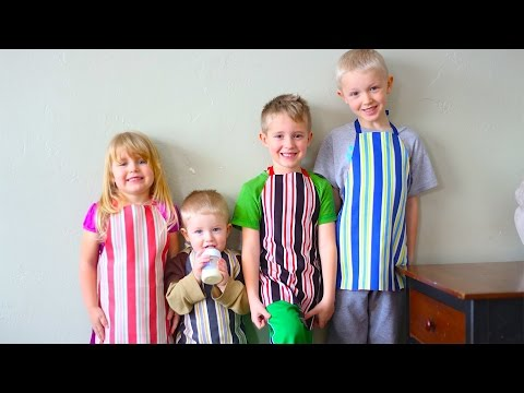 How To Make No Sew Aprons For Kids! Easy Cute Custom Aprons!
