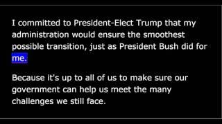 President Obama Farewell Address - 10 Jan 2017 - Chicago IL
