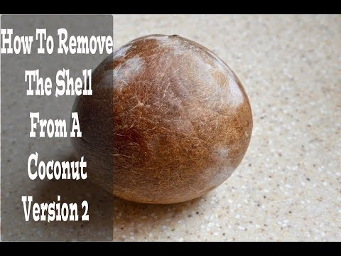 How To Remove The Coconut Shell From A Coconut Version 2! (View in HD)