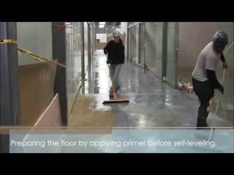 Self-leveling large area floor