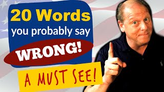 20 English Words You're (probably) Mispronouncing! | Difficult Pronunciation | Common Mistakes