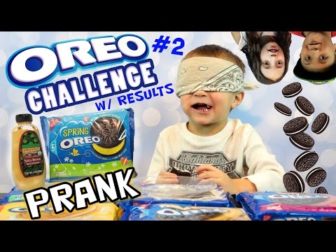 Chase takes the OREO CHALLENGE!! w/ SPICY Mustard Cookie Prank + THE RESULTS!! (Funnel Vision # 2)