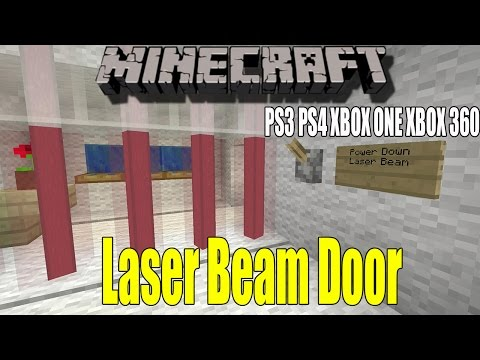 How to make a Laser Beam Door - Minecraft