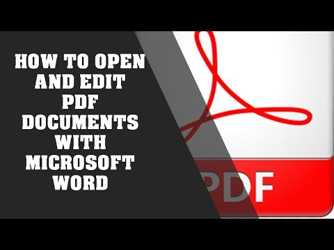 How To Open And Edit PDF Documents With Microsoft Word