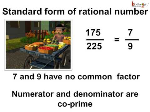 Maths -What is the standard form of rational number - English