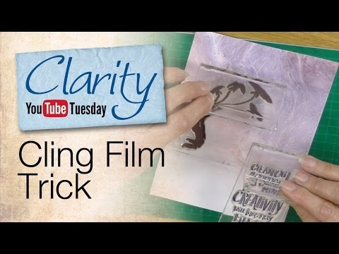 Stamping How To - Cling Film Trick