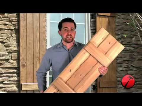 Board-n-Batten Wood Shutters