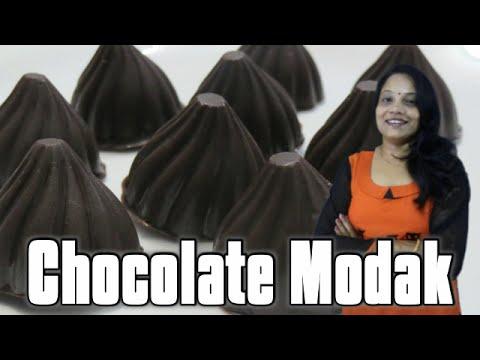 Chocolate Modak (in Hindi with English subs) | How to make chocolate Modak