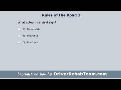 Ontario Driving Practice Test: Rules of the Road 2