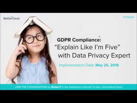 "GDPR Compliance: ""Explain Like I'm Five"" with Data Privacy Expert"