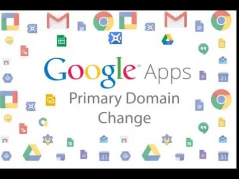 Change Primary Domain in Google Apps Legacy Account *WORKING*