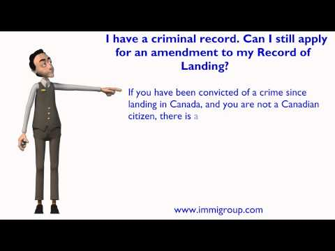 I have a criminal record. Can I still apply for an amendment to my Record of Landing?