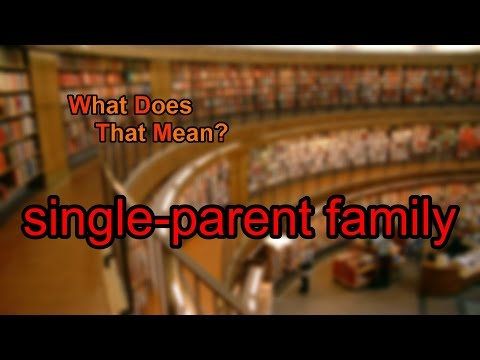 What does single-parent family mean?