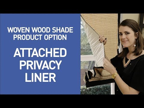 Bamboo Shades with Privacy Liner Option- Quick View