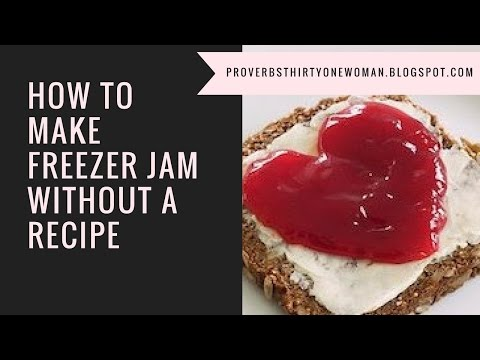 How to Make Freezer Jam Without a Recipe - no pectin, low sugar!