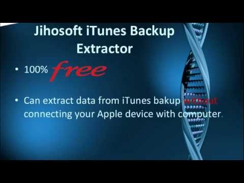 How to Extract Data from iTunes Backup?