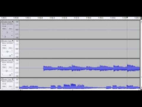 Audacity guitar recording