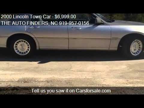 2000 Lincoln Town Car for sale in DURHAM, NC 27703 at the TH