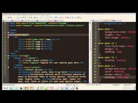 Style an HTML5 1-Column Template Part 3 - The Navbar