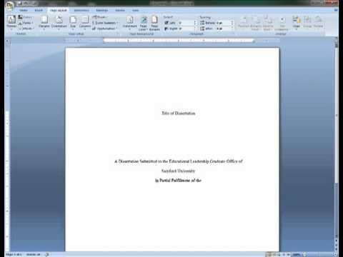 Title Page-APA