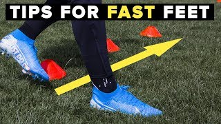 HOW TO GET FASTER FEET | Increase your foot speed for football