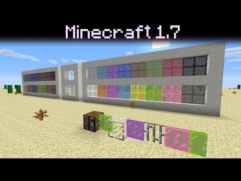 Minecraft 1.7 update - Colored Stained Glass / Panes