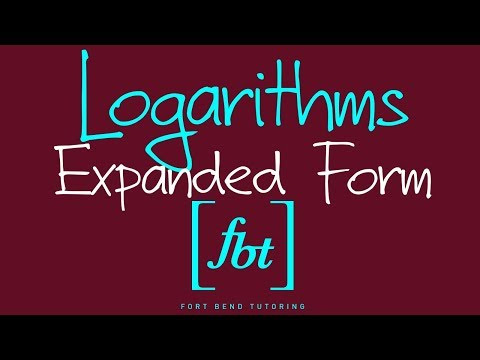 ⚫️Expanding Logarithmic Expressions: Writing a Logarithm as a Sum or Difference of Logarithms [fbt]