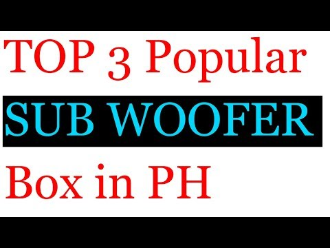 Top 3 Most Popular Subwoofer Box for DIY in PH
