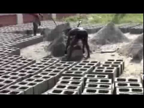 Making Concrete Blocks in Nigeria Nov 2013