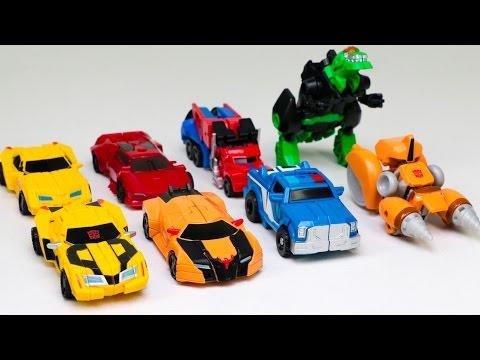Transformers RID Adventure Mini Autobots Legion Bumblebee Optimus Prime 8 Vehicles Robot Car Toys