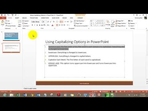 Use Capitalizing Options in PowerPoint