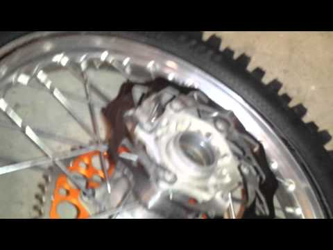 KTM 350 xcf rear wheel bearing play in hub