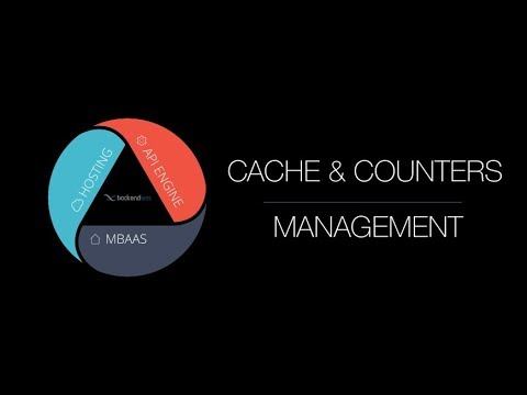 Management of Backendless Counters and Cache