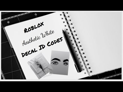 Roblox Aesthetic White Decal ID Codes