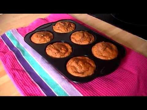 low fat banana and chocolate muffins