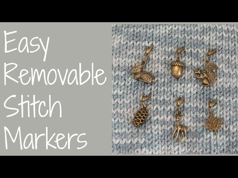 Easy Removable Stitch Markers For Crochet Or Knitting