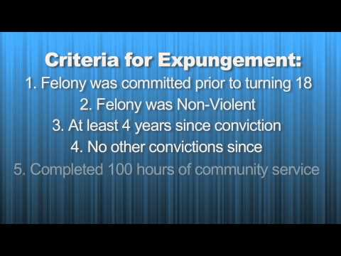 Expungement of Felony charges
