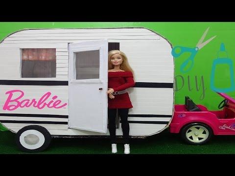Barbie doll Camper DIY- How to make a doll Camper