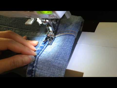 Nondestructive Jeans Hem Keep Original Hem Sewing Start to Finish